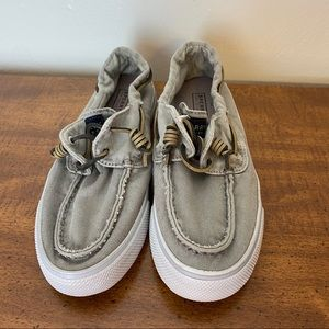 Sperry Top Sider Gray Boat Shoes, size 7